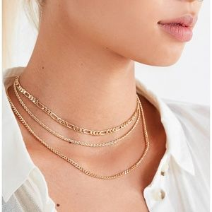NWT UO Simple Chain Necklace Set